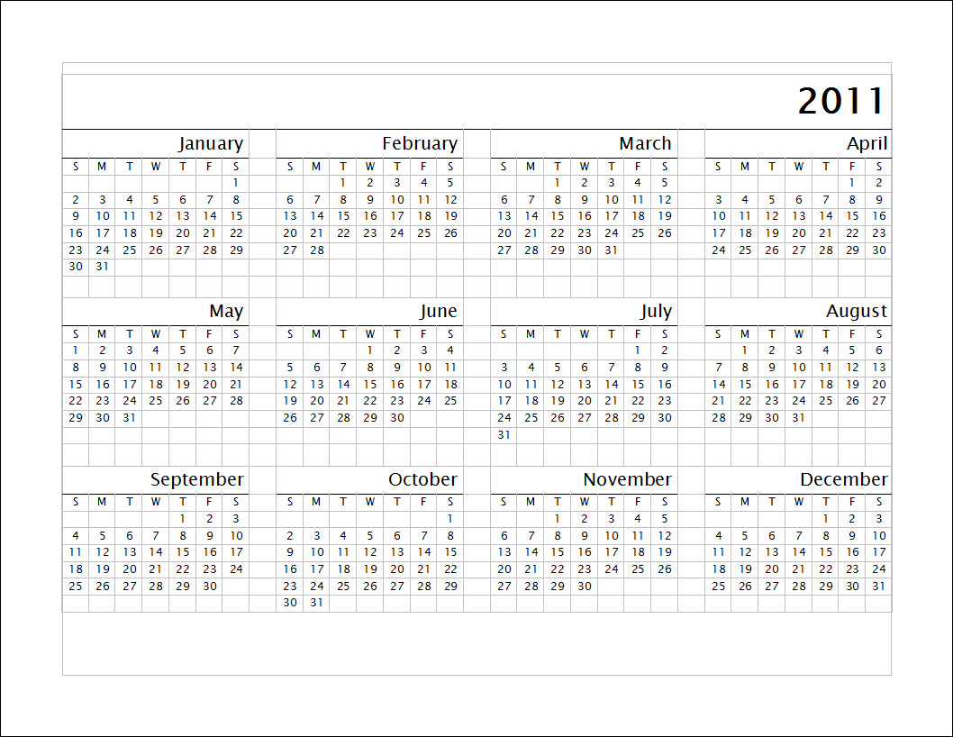 More Picture For printable 2011 calendar blank 2011 calendar.
