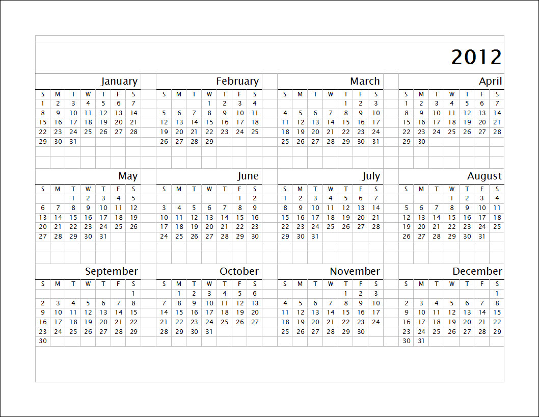 カレンダー カレンダー 2012 : 2012 Calendar Template