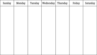 picture about Printable Weekly Calendars known as Blank Calendars - Weekly Blank Calendar Templates
