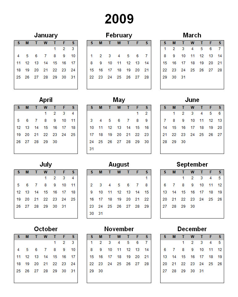 Free Printable Yearly Calendar 2015 Pictures to pin on Pinterest